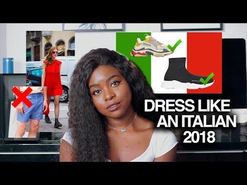 HOW TO DRESS LIKE AN ITALIAN SECONDO UNA RAGAZZA AMERICANA 2018-2019