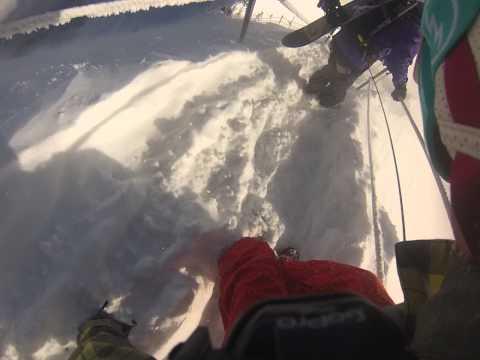 Vallee Blanche - Arete descent from Aiguille Du Midi to glacier