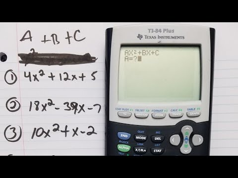 Factoring with TI-84 plus calculator