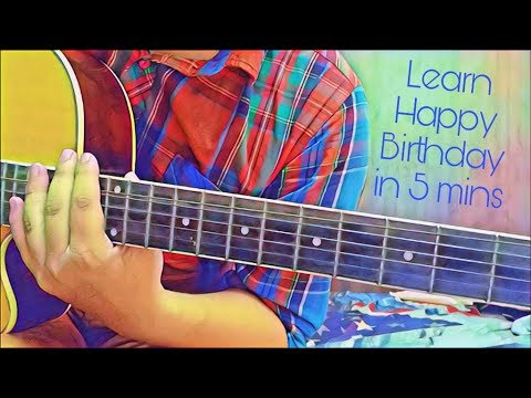 Play HAPPY BIRTHDAY on Guitar with Chords 🎂 🎁