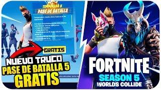 COMO CONSEGUIR EL PASE DE BATALLA 5 COMPLETAMENTE GRATIS!! [PC, XBOX, PS4] | FORTNITE BATTLE ROYALE