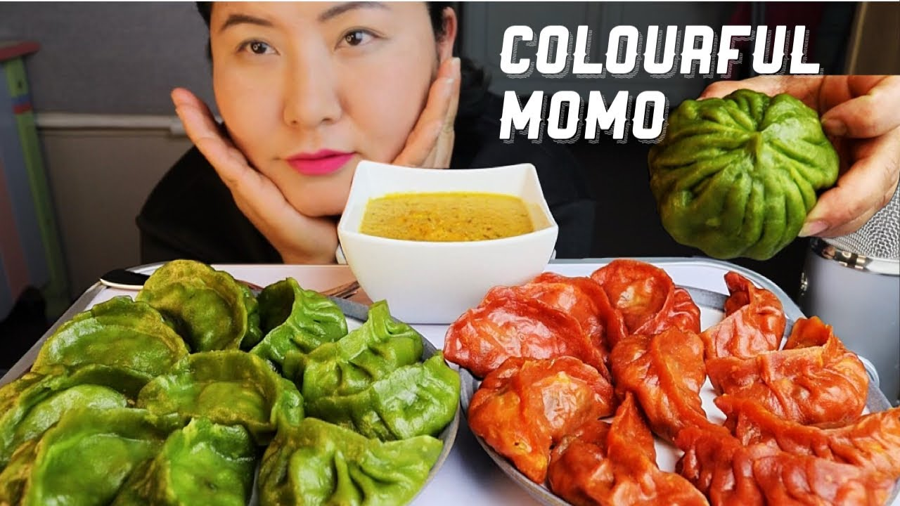 Download Colourful VEG MOMO +DUMPLING Nepali food eating MUKBANG/ASMR