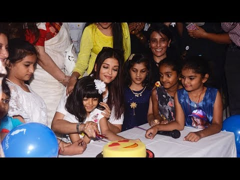 Aishwarya Rai Bachchan Celebrate Late Father Krishnaraj's Birthday With Orphanage Kids