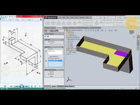 SolidWorks Surface Beginners|Exercise 5|Practice session Tutorial