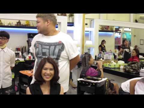 #นางสาวไทย2553-2554 มาทำสีผมค่ะ #ช่างบ็อบ