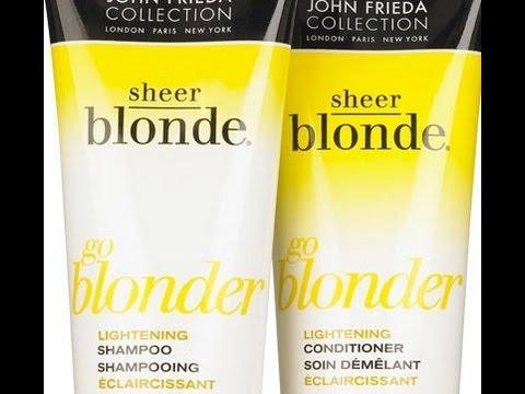 john frida go blonder shampoo conditioner review youtube. Black Bedroom Furniture Sets. Home Design Ideas