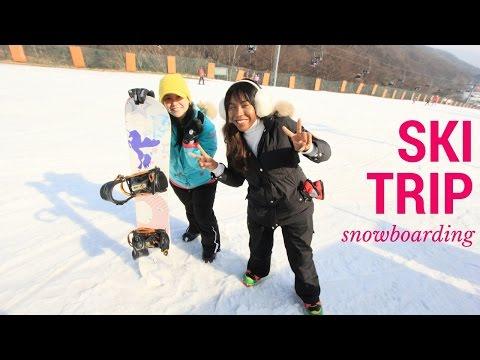 Ski resort outside Seoul || Snowboarding vlog
