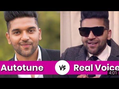 Real voice vs real song voice ,guru Randhawa ,real voice of guru randhawa