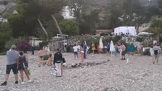 Каникулы в Таормине , Сицилия :) Свадьба на пляже Изола Белла