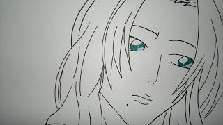 How to draw Rangiku Matsumoto.乱菊の松本を描画する方法.