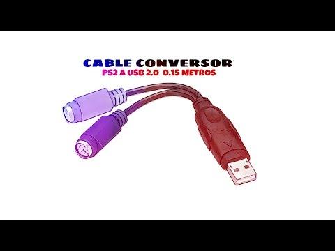Video de Cable conversor PS2 a USB 2.0 0.15 M Blanco