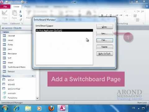 Using Access 2010 - Create a Switchboard