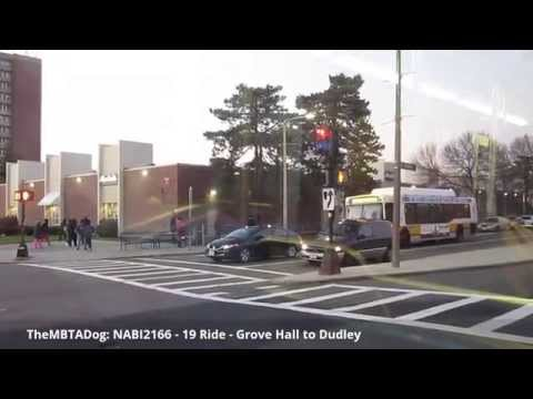 TheMBTADog: MBTA Bus 19 Ride - FIELDS CORNER to DUDLEY via GENEVA AVE & GROVE HALL [NABI CNG 2166]