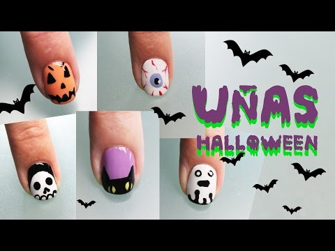 5 ideas para decorar tus uñas en HALLOWEEN paso a paso