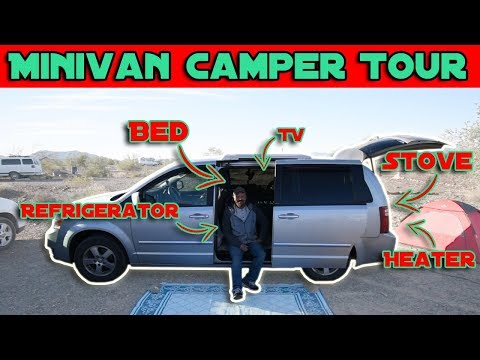 Dodge Grand Caravan Camper Tour | Retired and Traveling in a Minivan