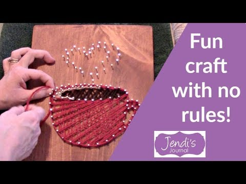 how to make string art patterns