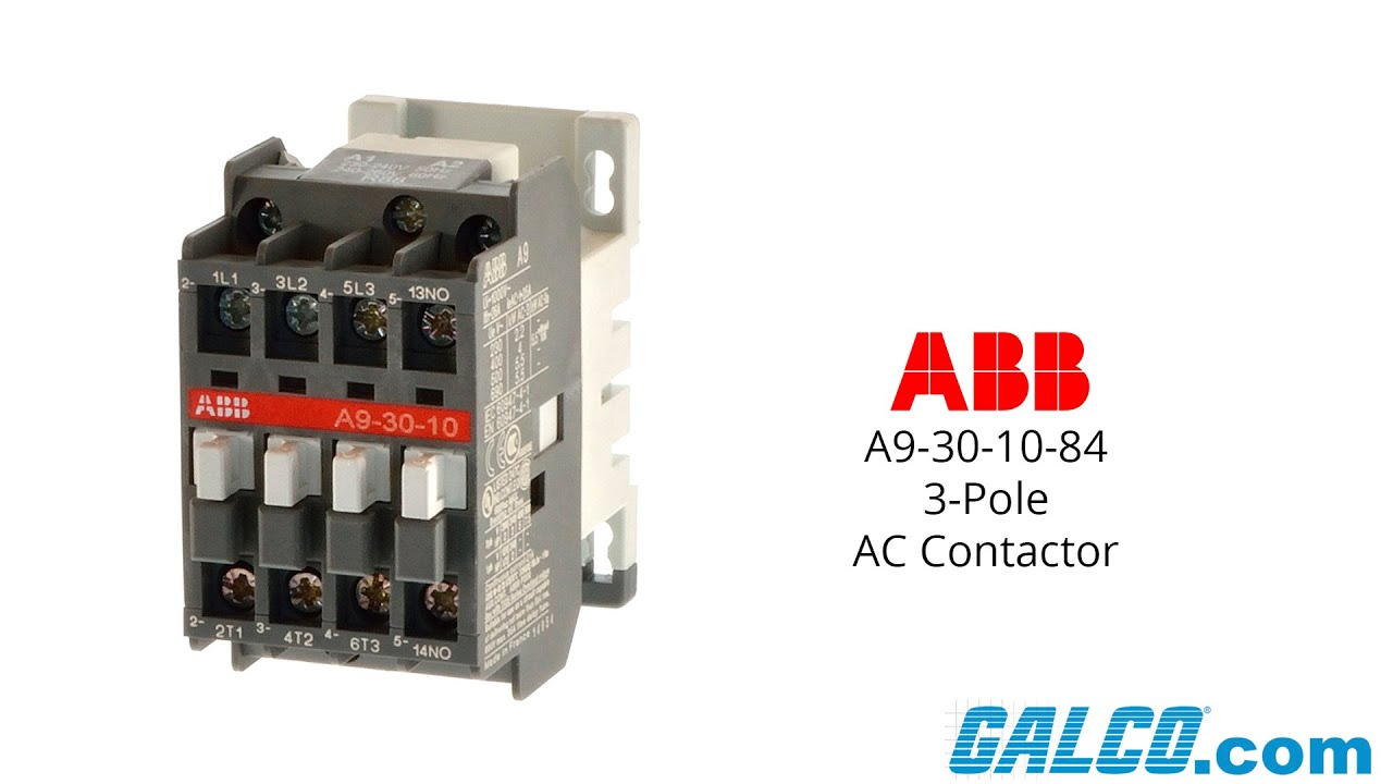 Abb Af09 Contactor Wiring Diagram Archive Of Automotive Bladez Xtr Electric Scooter Schematics A9 30 10 84 3 Pole Youtube Rh Com