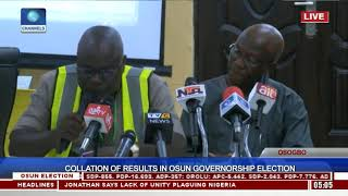 Collation Of Results In Osun Governorship Election Pt.12  Osun Decides 