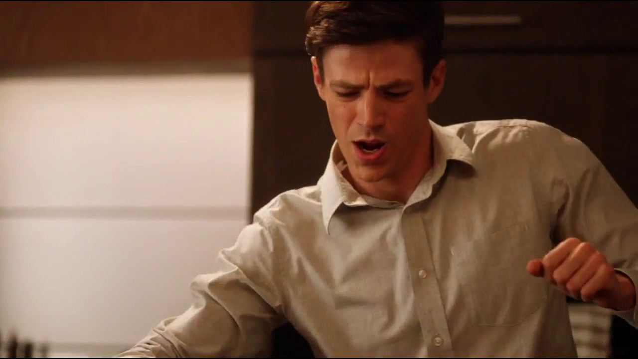 Download The Flash - Barry makes Breakfast while dancing