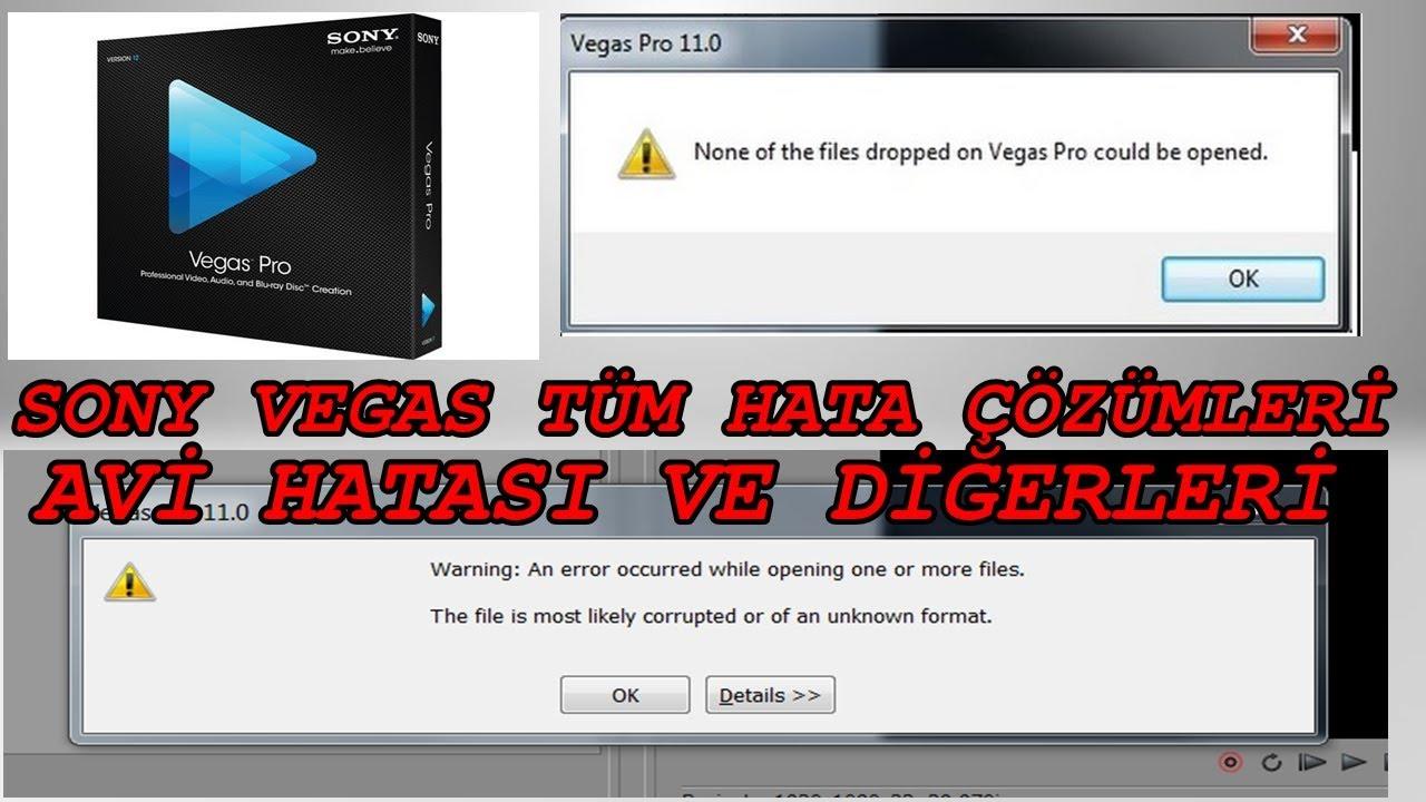 sony vegas pro 11 the authentication code is not correct hatası