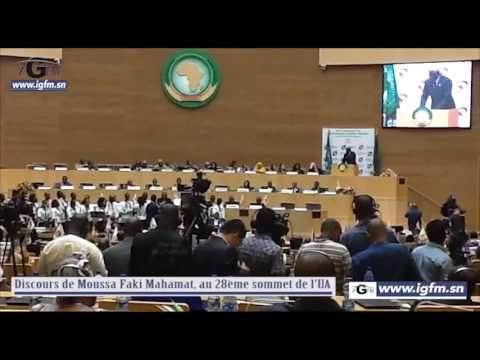Discours de Moussa Faki Mahamat, au 28ème sommet de l'UA