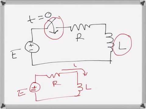 Electrical Engg: Transient response of an Inductor, current build up (RL Circuit)