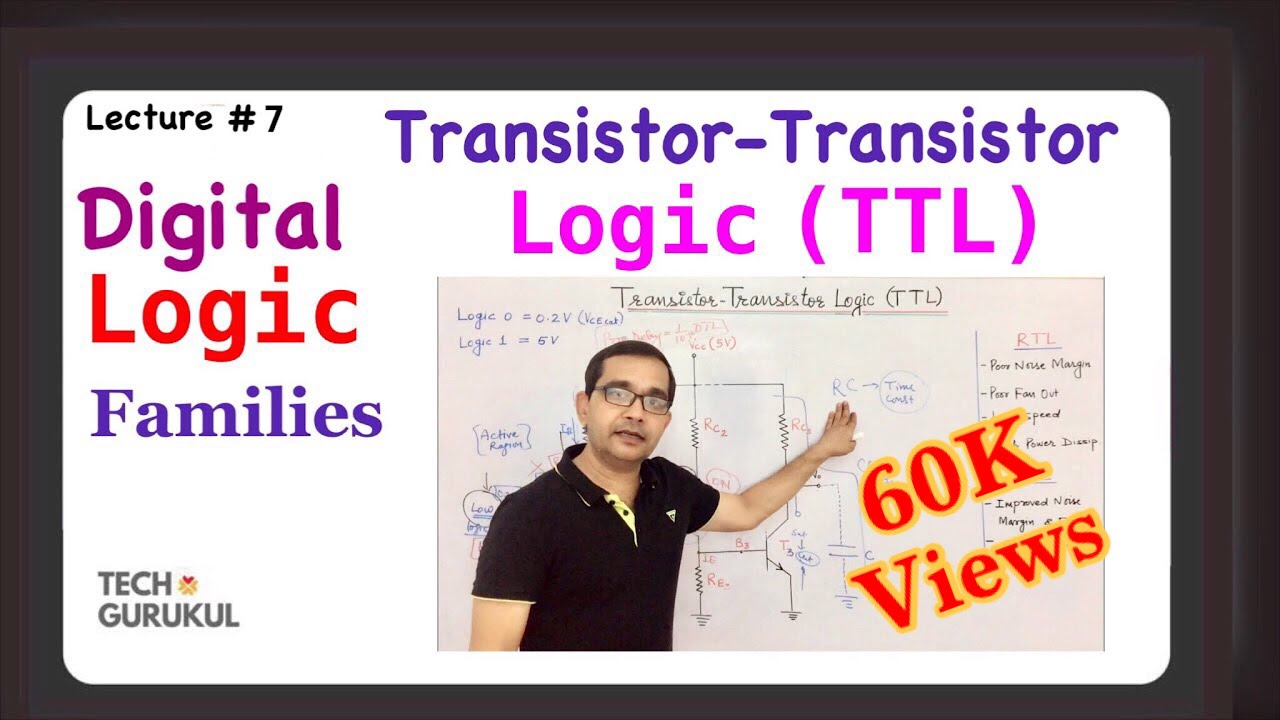 Ttl Transistor Logic Circuit Digital Families This Is A Diode Dtl Nand Gate Using Bipolar Tech Gurukul By Dinesh Arya