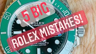 5 Common Rolex Mistakes and how to avoid them