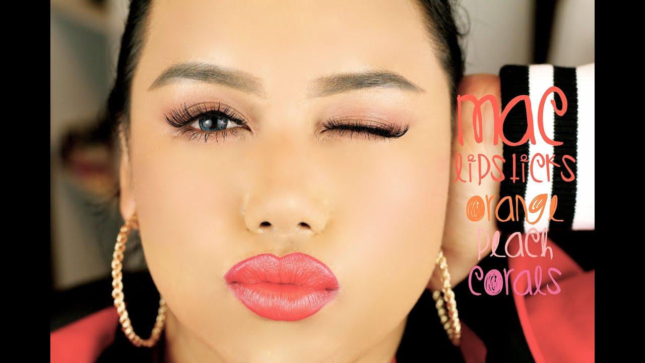 MAC Lipsticks w/ (11 Lip Swatches) - YouTube