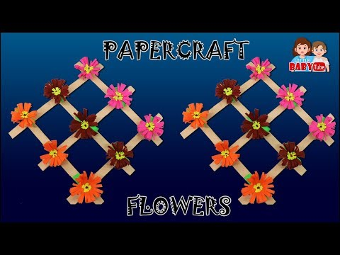 Paper Craft Decorations | Origami Designs | DIY Home Decorative | Paper Craft Flowers