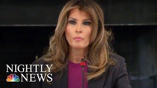 Melania Trump Addresses Critics At Cyberbullying Summit | NBC Nightly News