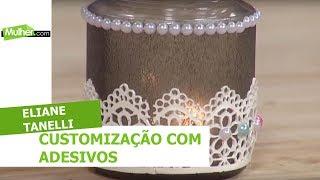 Customização com adesivos - Eliane Tanelli - 19/07/2018