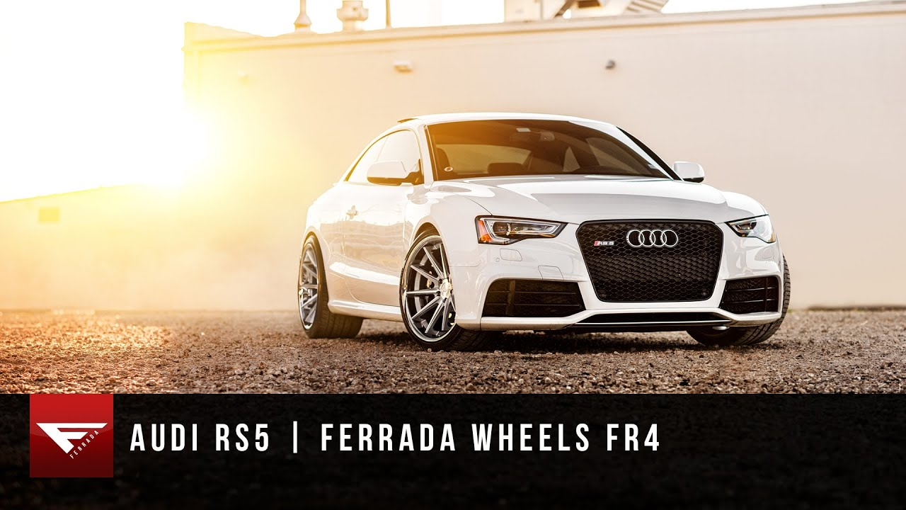 Audi Rs5 Ferrada Wheels Fr4 In Machine Silver Youtube