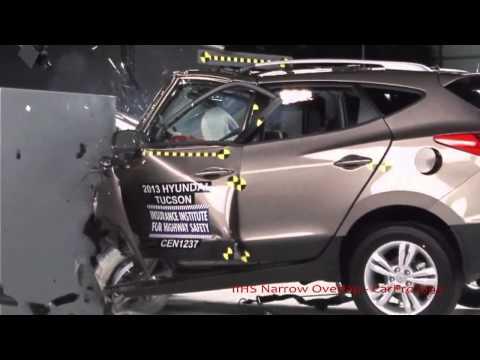 2013 Hyundai Tucson ix35 KIA Sportage IIHS Narrow Small Overlap Frontal Offset Poor Rating