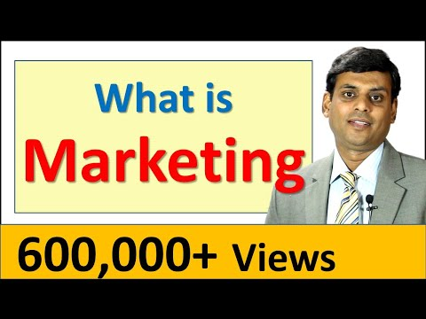 1. What is Marketing - Video Lecture by Prof. Vijay Prakash Anand