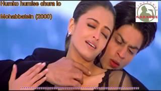Humko Humise Chura Lo Hindi karaoke for Male singers with  lyrics