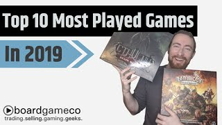 My Most Played Board Games In 2019; Zombicide, Pandemic And More!