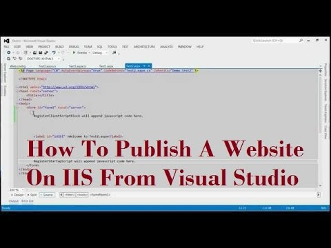 How To Publish A Website On IIS From Visual Studio