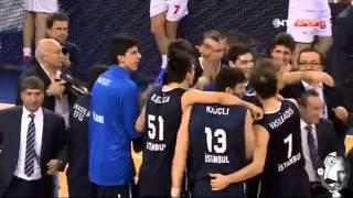 Anadolu Efes - EA7 Emporio Armani | Planinic Son Saniye Basketi. - 24.01.2014 Turkish Airlines Euroleague Top 16 E Grubu 4.Hafta Maçı.