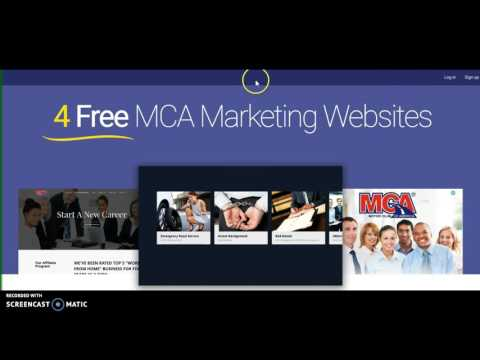 MCA TRAINING STEP 2 - SET UP YOUR NEW FREE WEBSITE