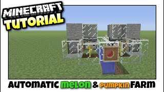 Minecraft Xbox - MELON & PUMPKIN FARM [ Automatic ] Redstone Tutorial - PE / PS4 / PS3 / Switch