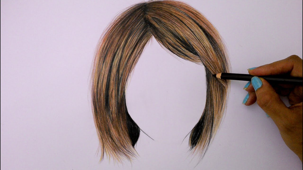 draw hair colored