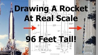 Drawing a Real Sized Picture of A Rocket - 96 Foot Tall Mercury-Atlas