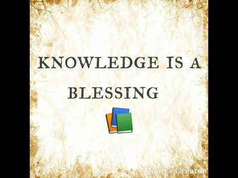 Knowledge is a blessing 📘📙📒 - YouTube