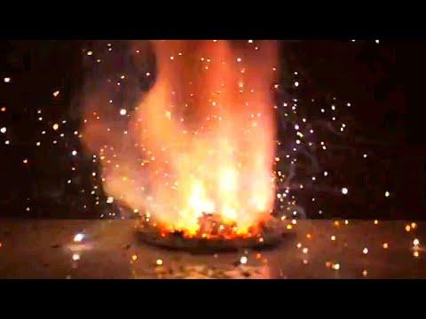 Химическая фейерверк. Реакция алюминия и нитрата калия