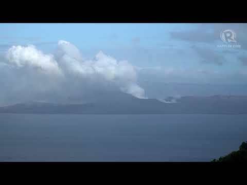 Taal Volcano timelapse, January 15, 2020