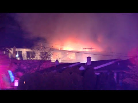 VIDEO: Firefighters Battle 4-Alarm Kenilworth Blaze