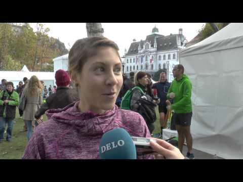 Državna prvaka v polmaratonu Neja Kršinar in Rok Puhar