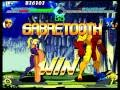 X-Men VS. Street Fighter (Sega Saturn) Arcade Mode as Sabretooth/Wolverine
