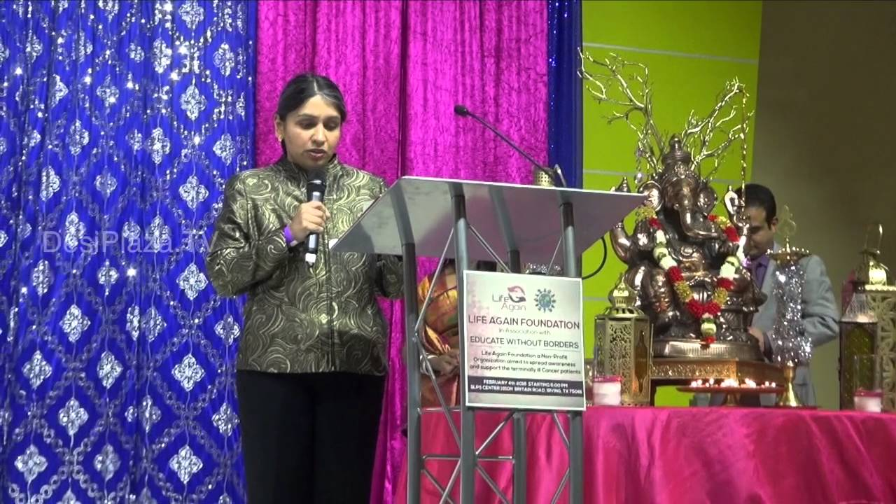 Dr.Roshni Rao,Breast Cancer Surgeon speaking at Life Again Worldwide Lanuch Event.